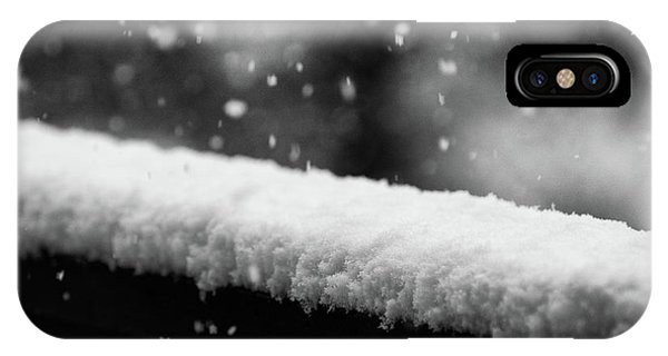 IPhone Case featuring the photograph Snowfall On The Handrail by Jason Coward