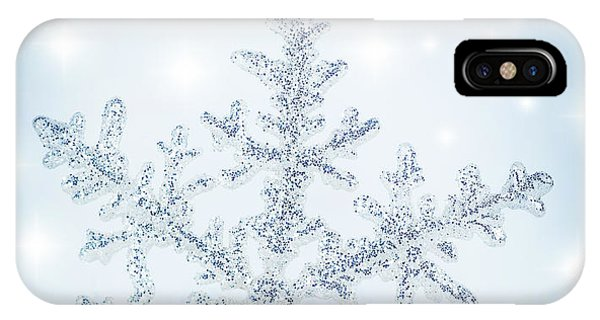 Snowflake Background IPhone Case