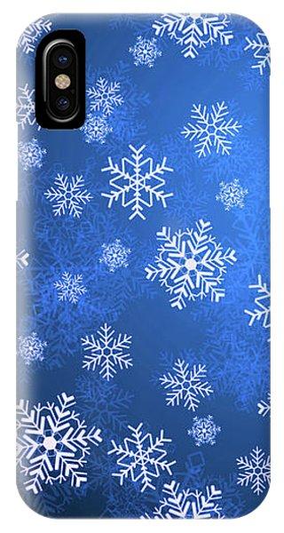 Snowflake Blue   9 IPhone Case