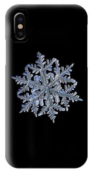 Snowflake Macro Photo - 13 February 2017 - 3 Black IPhone Case