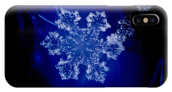 Snowflake On Blue IPhone Case