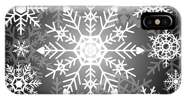Freeze iPhone Case - Snowflakes Black And White by Kathleen Wong