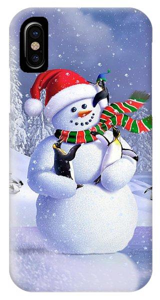 Ice iPhone Case - Snowman by Jerry LoFaro
