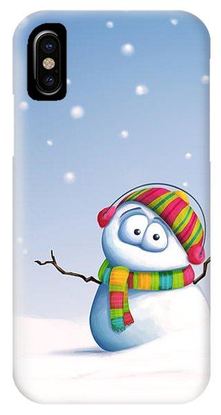 Xmas iPhone Case - Snowman by Tooshtoosh