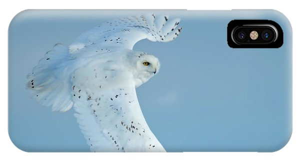 Snowy Against Blue Sky IPhone Case