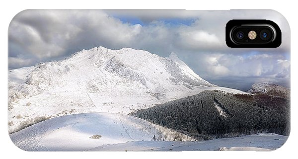 snowy Anboto from Urkiolamendi at winter IPhone Case