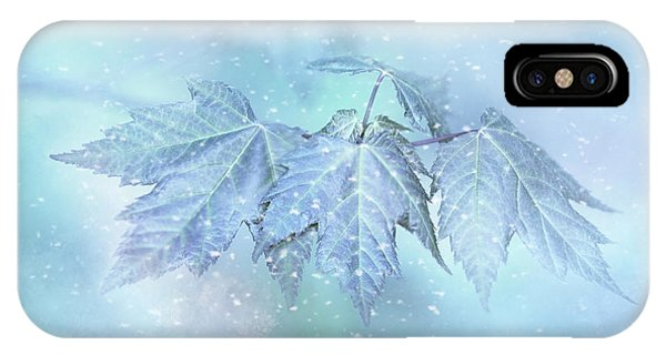 Snowy Baby Leaves IPhone Case
