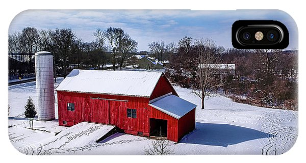 Snowy Barn IPhone Case