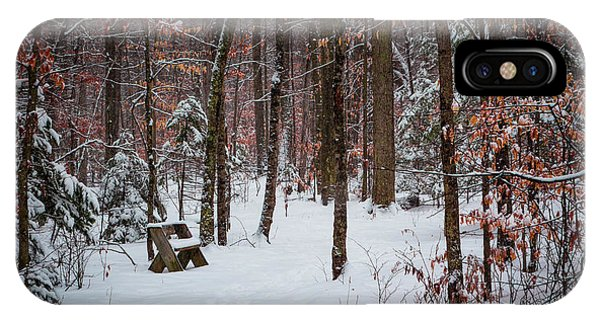 Snowy Bench IPhone Case