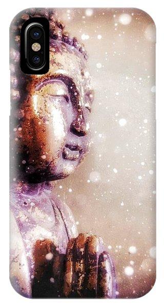 Snowy Buddha IPhone Case