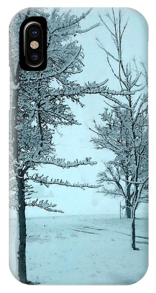 iPhone Case - Snowy Day by Michelle Audas