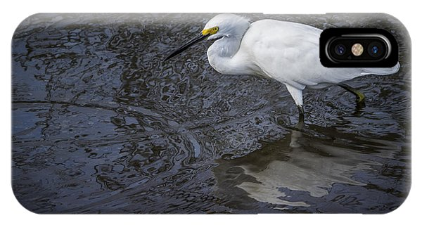 Snowy Egret Hunting IPhone Case