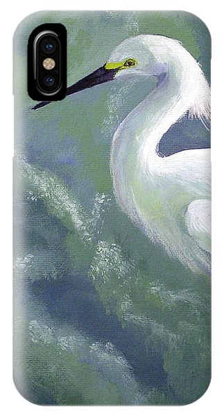 Snowy Egret In Water IPhone Case