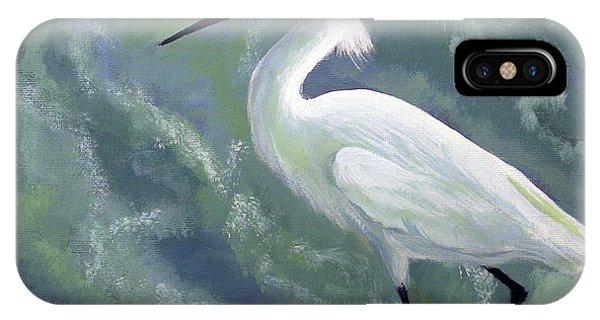 Snowy Egret In Water IPhone Case