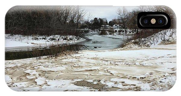 Snowy Elk Rapids River IPhone Case