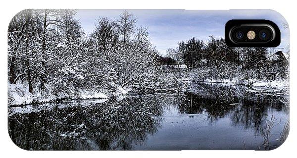 Snowy Ellicott Creek IPhone Case