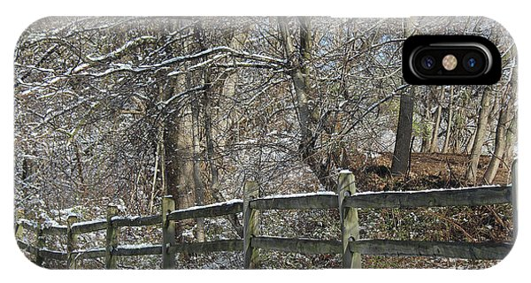 Winter Fence IPhone Case