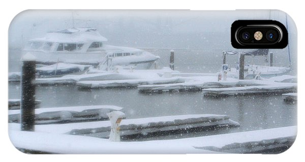 Snowy Harbor IPhone Case