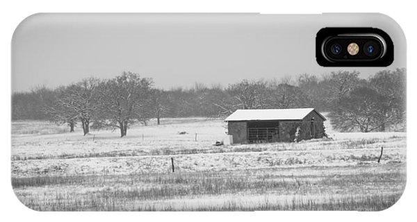 Snowy House On The Prairie IPhone Case