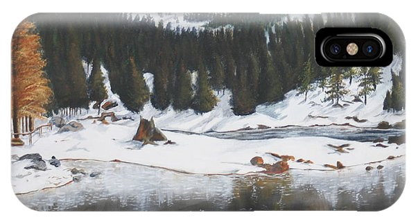 Snowy Lake Phone Case by Travis Day