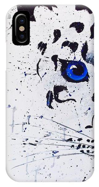 Samantha iPhone Case - Snowy Leopard by Samantha Whitten