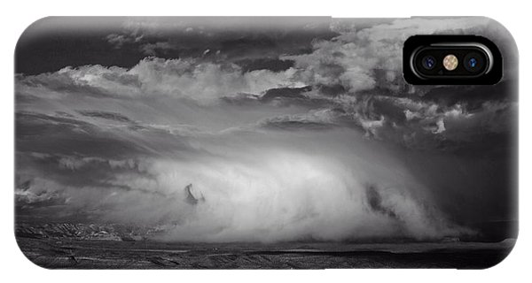Snowy Mix Storm Over The Verde Valley IPhone Case