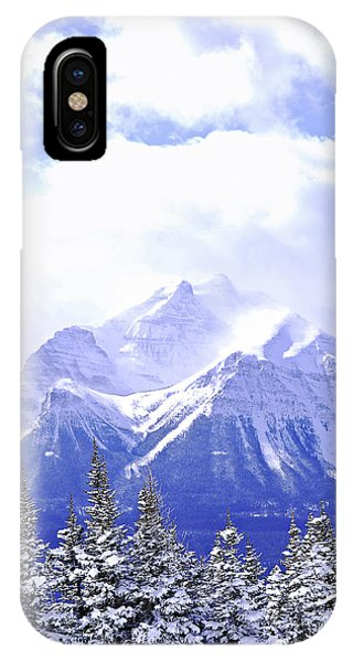 snowy mountain iphone case