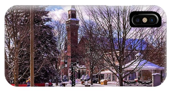Snowy Old Town Hall IPhone Case