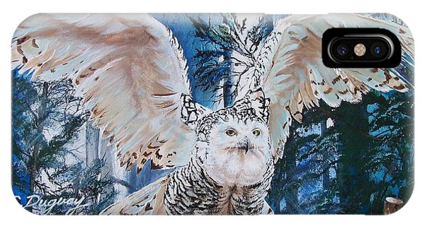 Snowy Owl On Takeoff  IPhone Case
