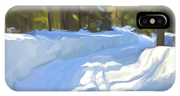Snowy Road iPhone Case - Snowy Path by Paul Tagliamonte
