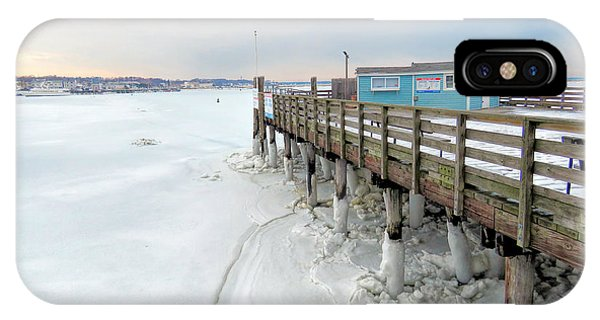 Snowy Pier Boots IPhone Case