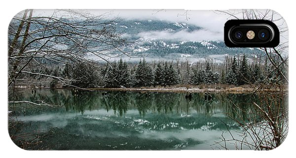 Snowy Reflection IPhone Case