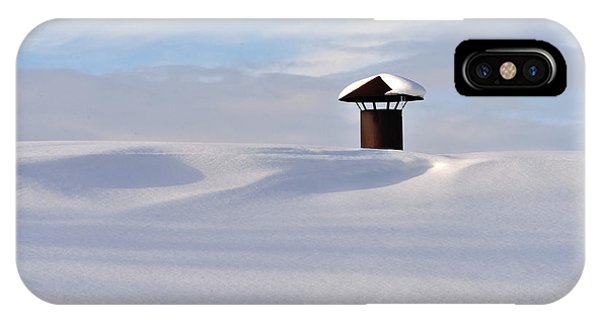 Snowy Roof With Stove Pipe IPhone Case
