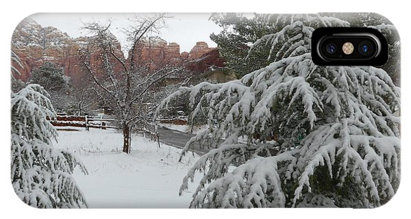 Snowy Sedona Red Rocks IPhone Case