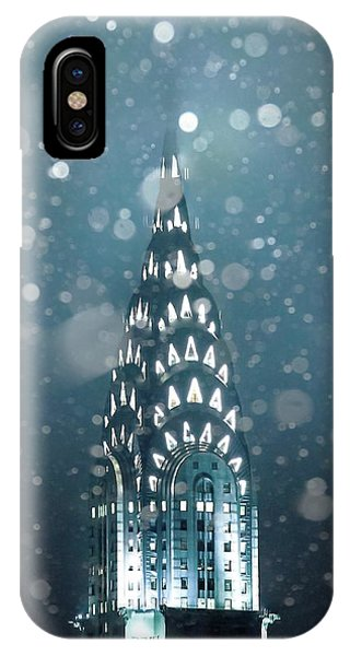 Chrysler Building iPhone Case - Snowy Spires by Az Jackson
