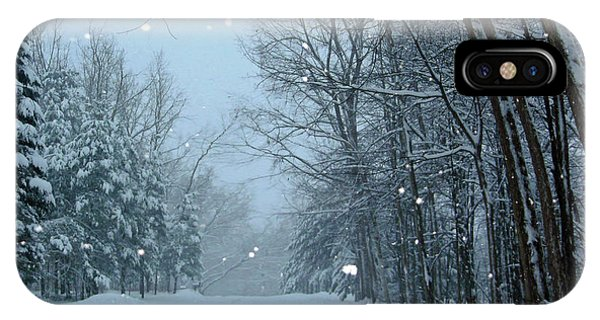 Snowy Street IPhone Case