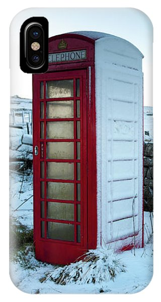 Snowy Telephone Box IPhone Case