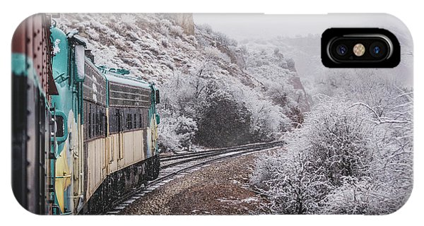 Snowy Verde Canyon Railroad IPhone Case