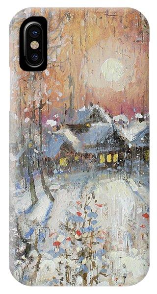 Snowy Village IPhone Case