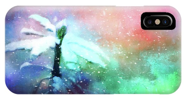 Snowy Winter Abstract IPhone Case