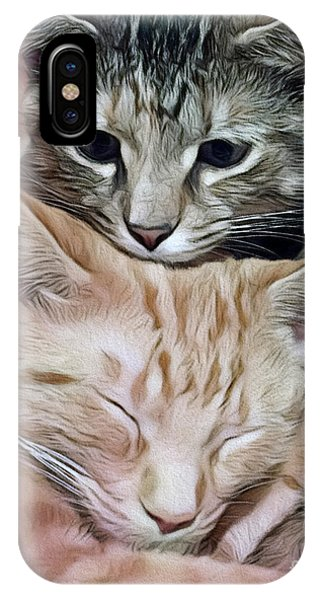 Snuggling Kittens IPhone Case