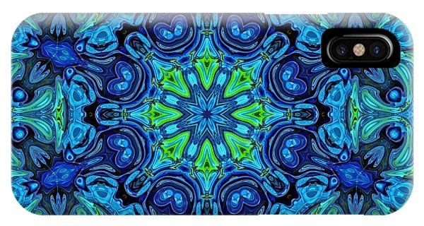 So Blue - 04v2 - Mandala IPhone Case