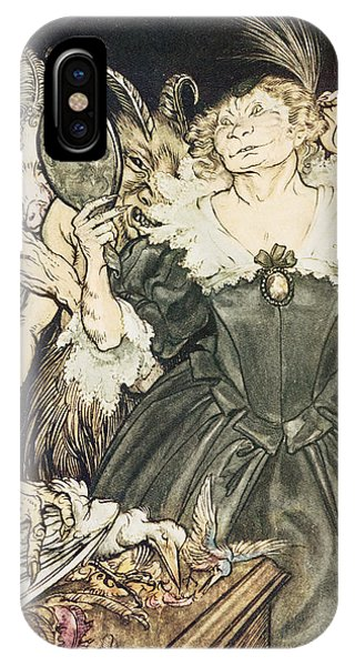 Raven iPhone Case - So Perfect Is Their Misery by Arthur Rackham