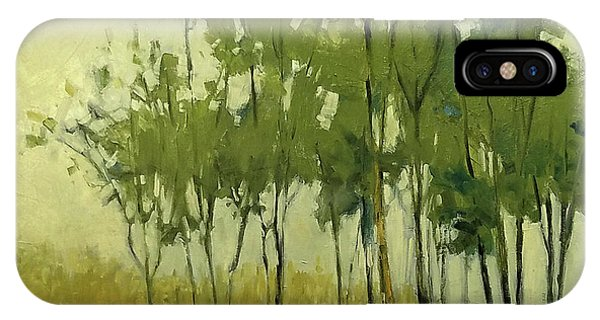 So Tall Tree Forest Landscape Painting IPhone Case