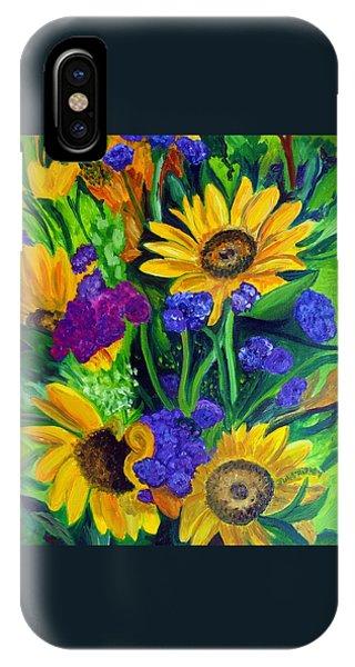 Sunflowers -soaking Up Sunshine IPhone Case
