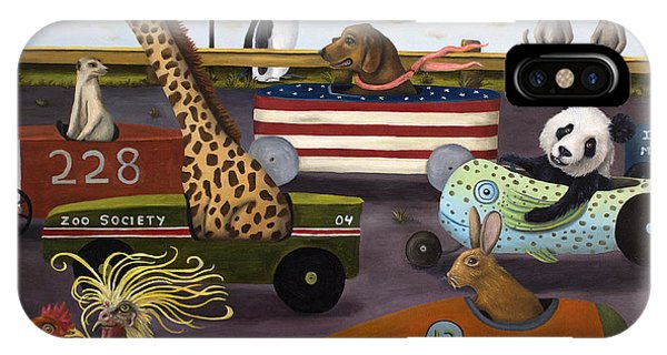 Meerkat iPhone Case - Soap Box Derby by Leah Saulnier The Painting Maniac