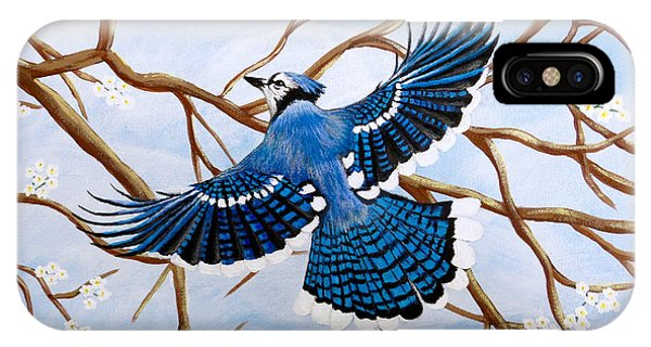 Soaring Blue Jay  IPhone Case
