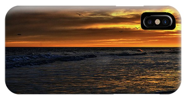 IPhone Case featuring the photograph Soaring In The Sunset by Kelly Reber