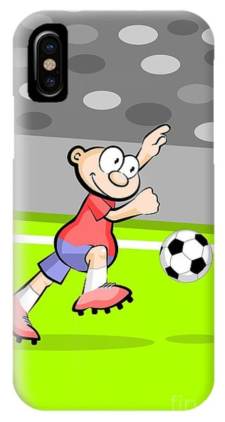 Soccer Player Of Spain With The Ball IPhone Case