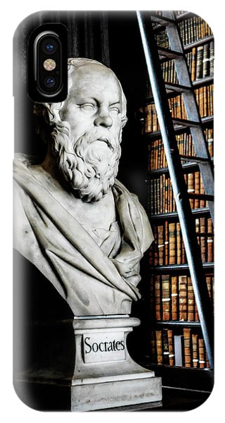 Socrates A Writer Of Knowledge IPhone Case